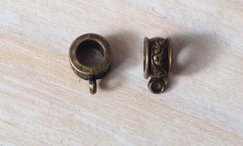 5Pcs Antique Finish Connector Bails For European Bracelet Jewellery Making