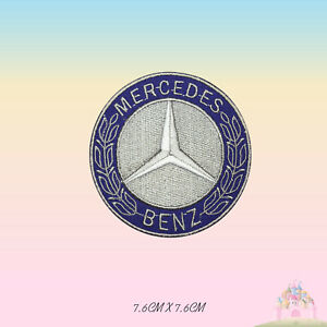 Mercedes-Benz-Car-Brand-Logo-Motor-Sport-Embroidered-Iron-On-Patch-Sew-On-Badge