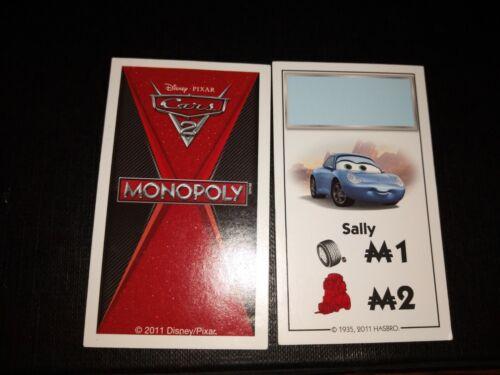 MONOPOLY CARS 2 PARKER REMPLACEMENT TITRES DE PROPRIÉTÉ CARTE D/'ORIGINE