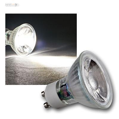 5 x COB GU10 Glas Leuchtmittel daylight weiß 250lm Strahler Birne Spot Lampe 3W