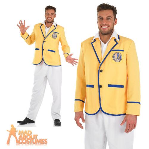 Hi De Hi Male 80s Yellow Coat Costume Mens Fancy Dress Outfit Butlins New