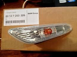 Turn Indicator Side Flasher Left Genuine BMW E81 E88 E90 E92 E93 X1 63137253326