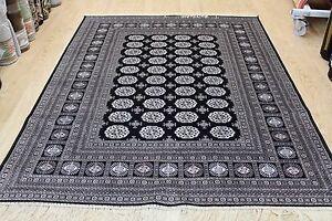 Traditional-Rug-Black-Silk-Like-Machine-Washable-Living-Room-BedRoom-Carpet-Rugs
