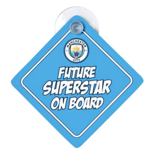 Official MANCHESTER CITY Football Club Car BABY ON BOARD Sign Future Superstar