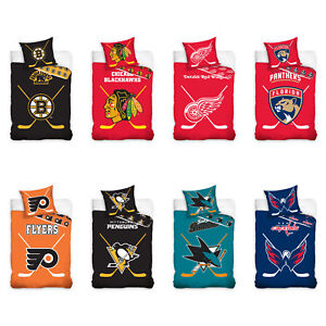 NHL-National-Hockey-League-Fan-Bettwaesche-Bed-Linen-Eishockey