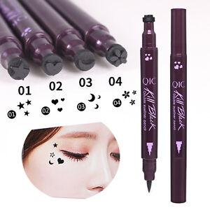 Double-Head-Wasserdichte-Liquid-Eyeliner-Tattoo-Stempel-Liner-Bleistift