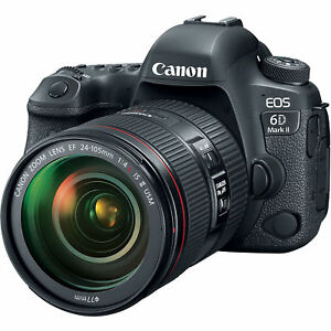 "Canon EOS 6D Mark II 24-105mm F4 26.2mp 3"" DSLR Camera New Cod Agsbeagle"