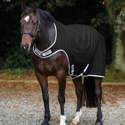 Bellissimo Horseware Amigo Waterproof Walker Lite 100g-black With Silver & Red-