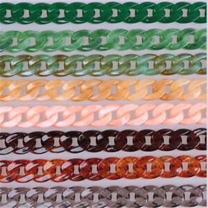 Plastic Fish Bone Colorful Strap Bag Chain Handbag Bag Accessories for Women