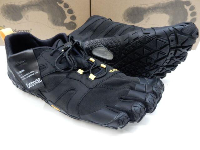 best service f521d 5173a Vibram Fivefingers Mens V-trail 2.0 Black Yellow Size EU 43