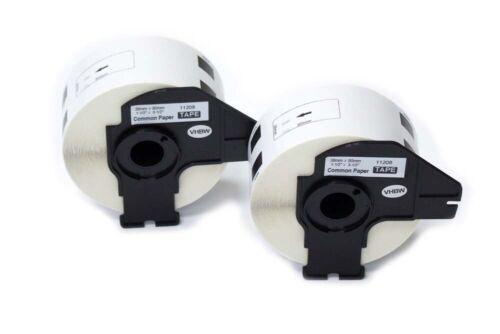 2 ROLLEN ETIKETTEN 38x90mm STANDARD für BROTHER P-touch DK-11208