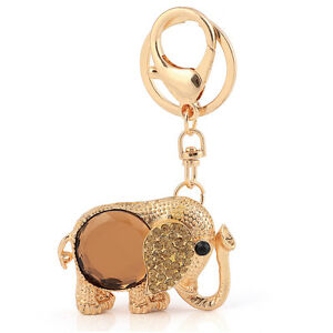090d4b5b239 Details about Handbag Charms Accessories Lucky Gift Gold Elephant Keyrings  Key Chains HK82
