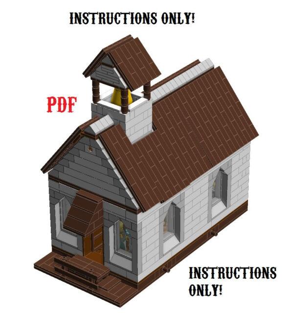 Lego Custom Modular Small Town Church Instructions Only Parish