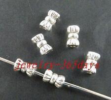 350pcs Tibetan Silver Nice Tie Spacer Beads 5.5x3mm 413