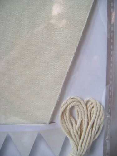 NEW CRAFT LINEN BUNTING SET 6 PIECES WITH STRING 1.5M LENGTH CREAM CR0540