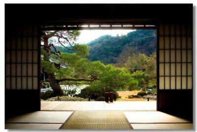 Poster Zen Stone Garden Rocks Spa Fountain Room Art Wall Cloth Print 22