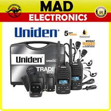 Uniden UH850S-2TP TWIN Tradies Pack 5 Watt Rugged Handheld CB UHF Walkie Talkie