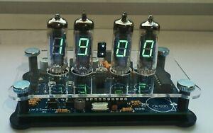 Bausatz-Nixie-Ara-VFD-IV-6-Uhr-12-24h-Temp-C-F-Gehaeuse-DIY-clock-kit