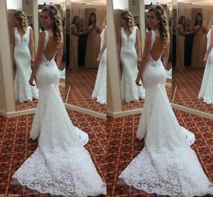 Sexy-Mermaid-Lace-Wedding-Dresses-V-Neck-Backless-Sleeveless-Bridal-Gown-Custom