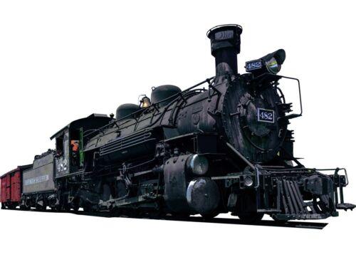 VWAQ Locomotive Wall Decal Realistic Steam Train Sticker Kids Room Wall PAS14