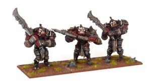 Kings-of-War-3x-ogro-guerreros-Horda-Sin-Caja-Mantic-whfb-Regimiento-irongut-Bull