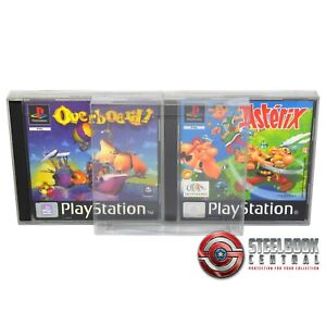 5 x GP1 PS1 Game Box Protector 0.4mm PET Plastic Display Case For Playstation 1