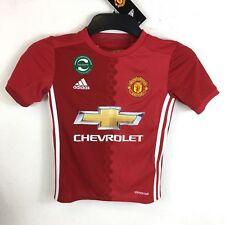 804dc8e748aab adidas Manchester United FC Home 2016 2017 Shirt Junior 7-8 Yrs SCANLAN  R552-