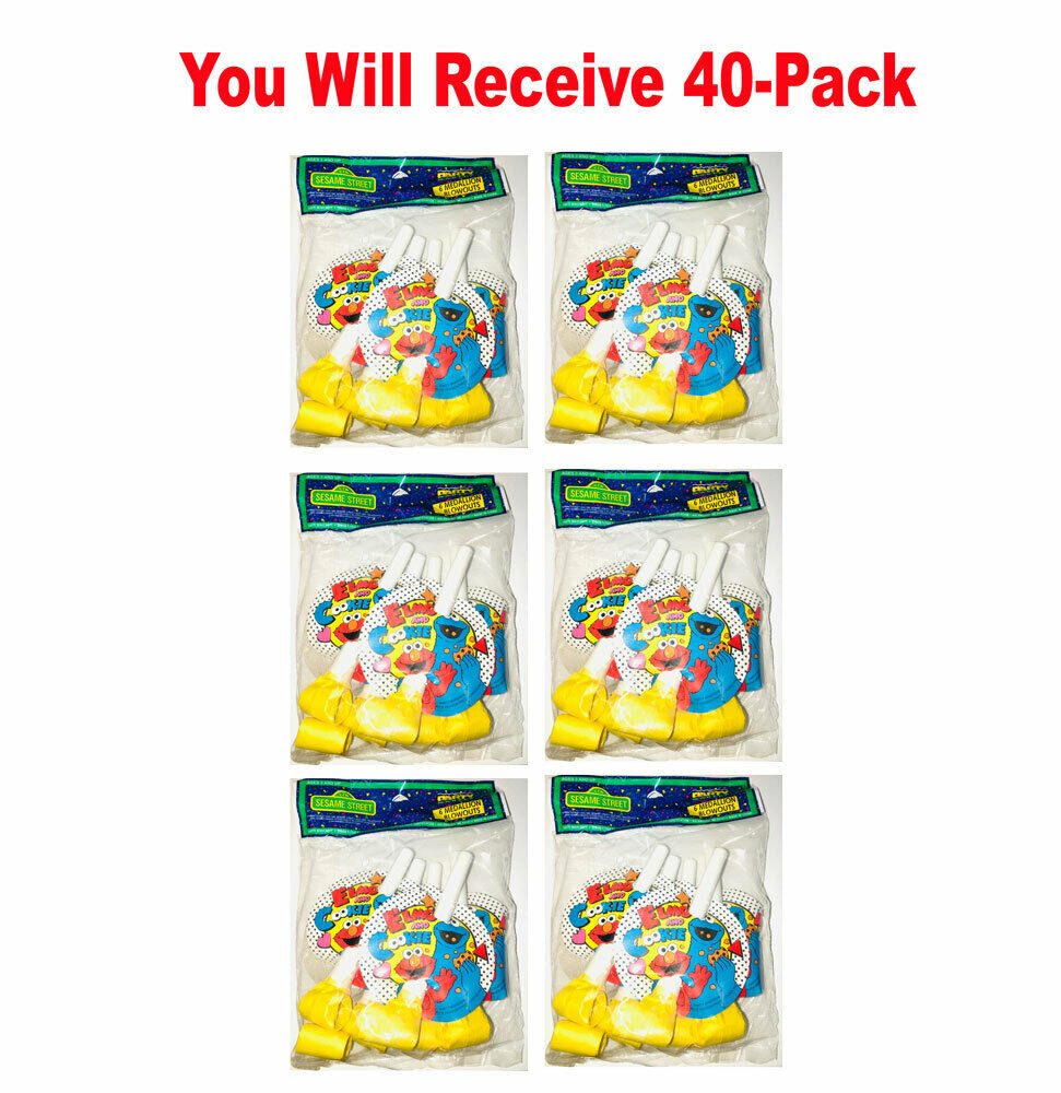 240x Sesame Street Party Blowouts With Medallion Birthday Party Favors 6pk x 40