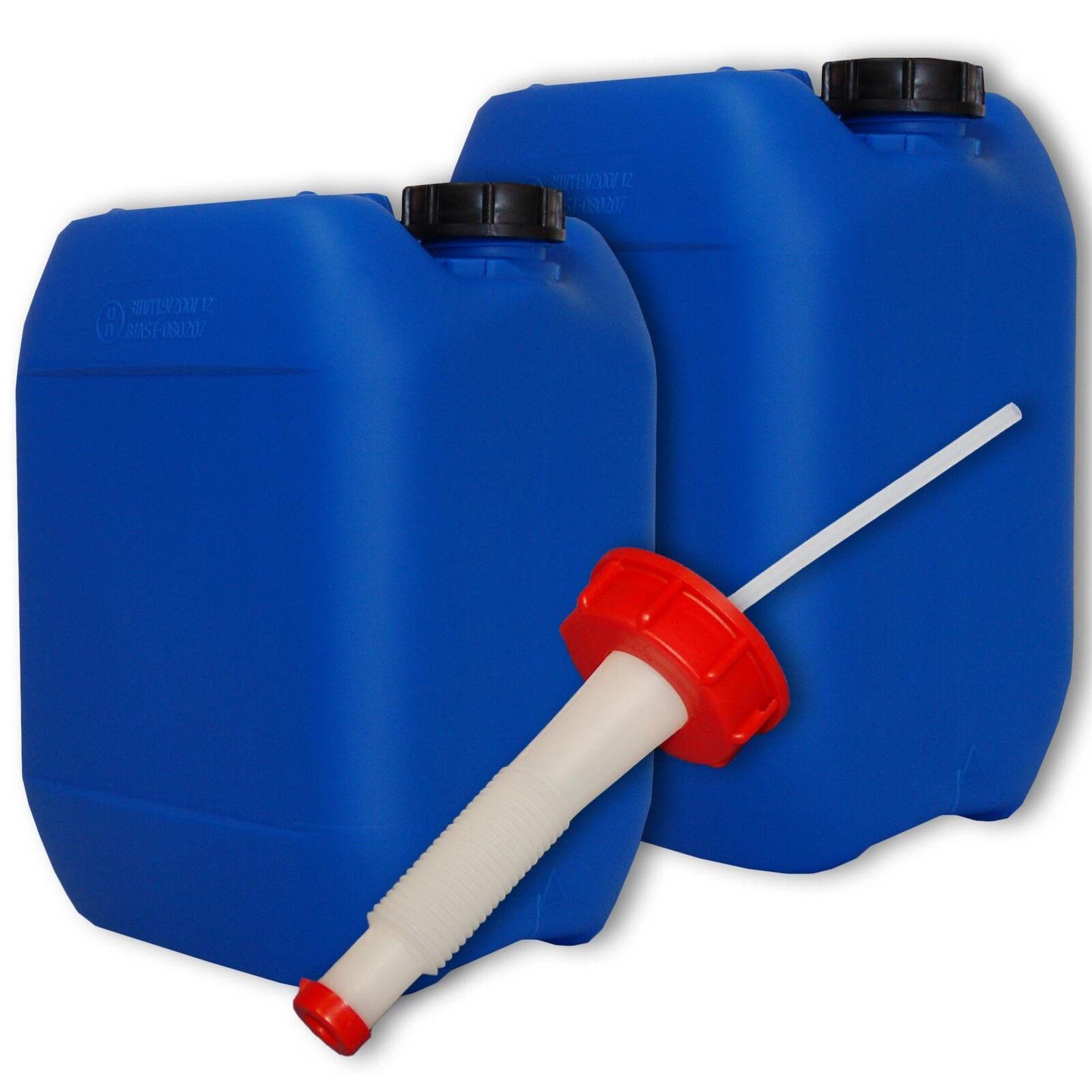 Bidon plastique bleu bleu bleu 10 L - DIN51 + 1 bec flexible, fb. Allemagne (22041+021) b3ad16