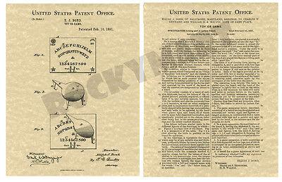 Produced from Original USA Patent PA 1891 Bicycle Bike ART PATENT PRINT