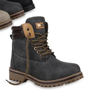 Warm Stiefel Zu Schnürer Damen Outdoor Gefütterte Details Schuhe Boots Top Worker 820409 wk8nO0P
