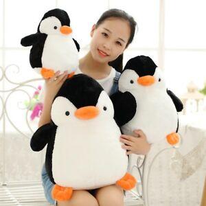 Coussin-oreiller-de-simulation-pingouin-peluche-jouets-moelleux-animaux