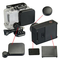 Lens Cap + Battery Back Door + Side Door Cover For GoPro Hero 3+ 4 Camera