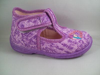 Girls Superfit Lilac Canvas Summer Shoes - Size 6 Infant - BNIB