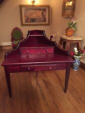 1/12 Dolls House miniatures beautiful corner desk dressing table   mahogany