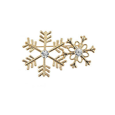 Lux Accessories Gold Tone Christmas Holiday Festive Snowflake Pendant Necklace