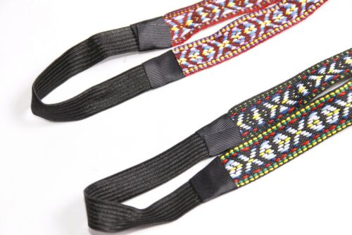 Outstanding Fold Style Multicolored Embroidered Set of Ladies Headbands S404