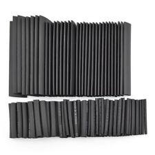 127pcs Black Weatherproof Heat Shrink Sleeving Tubing Tube Assortment Kit