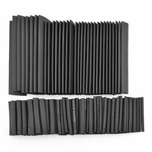 127Pcs-Black-Weatherproof-Heat-Shrink-Sleeving-Tubing-Tube-Assortment-Kit