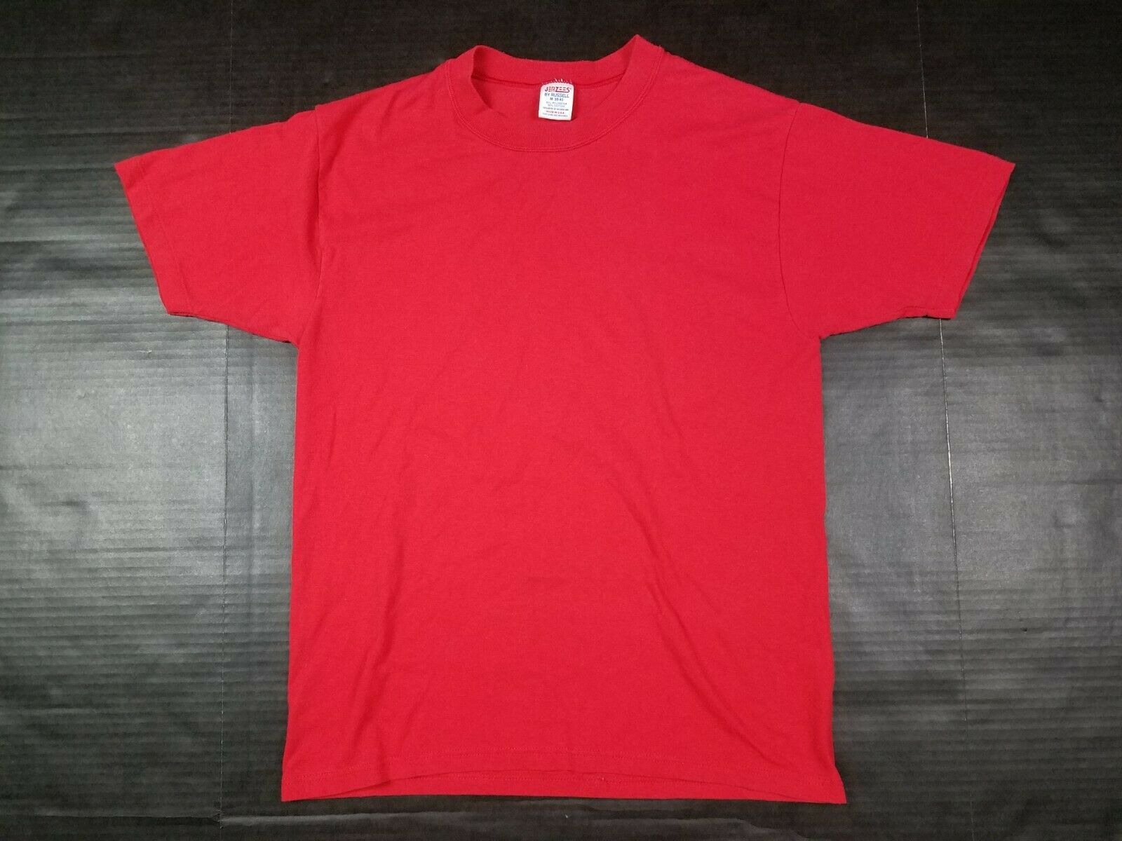 Vtg Jerzees by Russell 1970s 80s Red Blank Single… - image 1