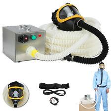 Full Face Fresh Air Fed Gas Respirator Mask For Breathing System 110 240v