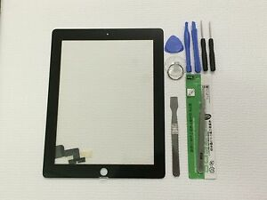Black Screen Glass Digitizer replacement for iPad 2 A1395 A1397 A1396 + Tools