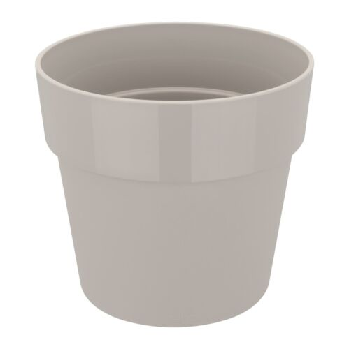 per ORIGINALE ROUND 16cm Vaso da fiori-in plastica VASO Indoor-Grigio Caldo Elho B