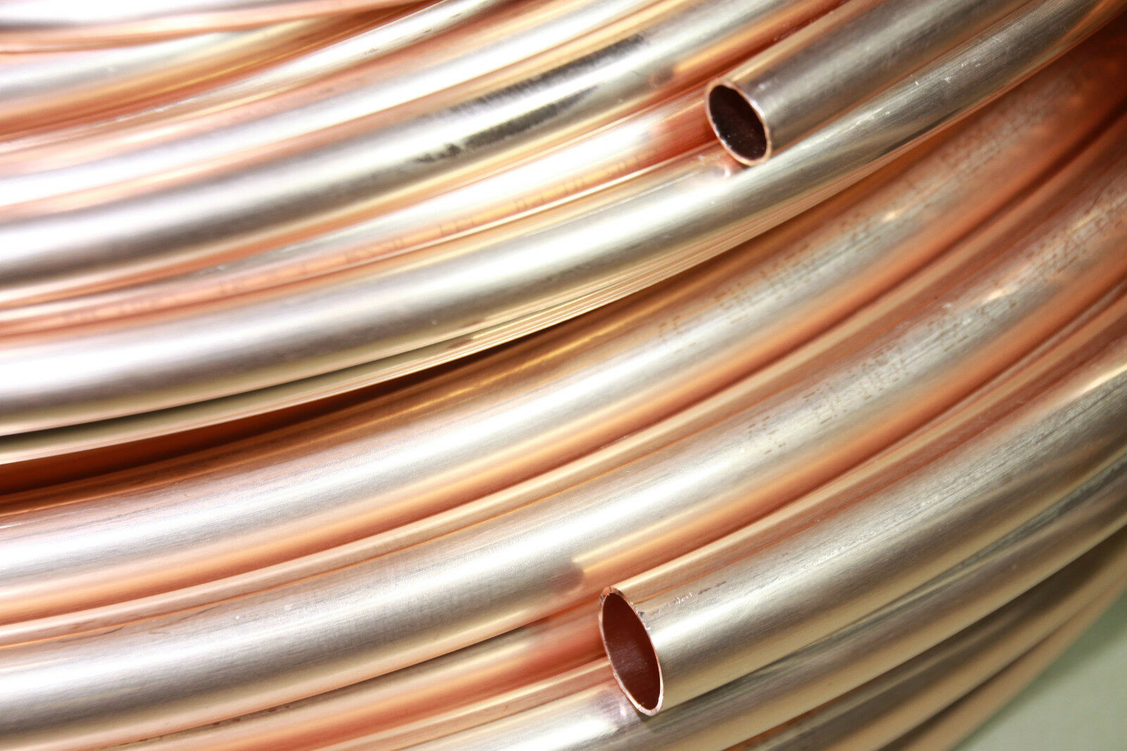 Kupferrohr weich im RING (10m,25m,50m) in Ø 6-18mm EN1057 für WASSER, ÖL & GAS