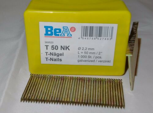 T NAILS FOR WOOD 2 BOXES OF 1,000 FROM 25MM TO 64MM