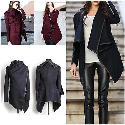 Women Trench Slim Winter Warm Coat Long Wool Jacket Outwear Parka Overcoat Hot