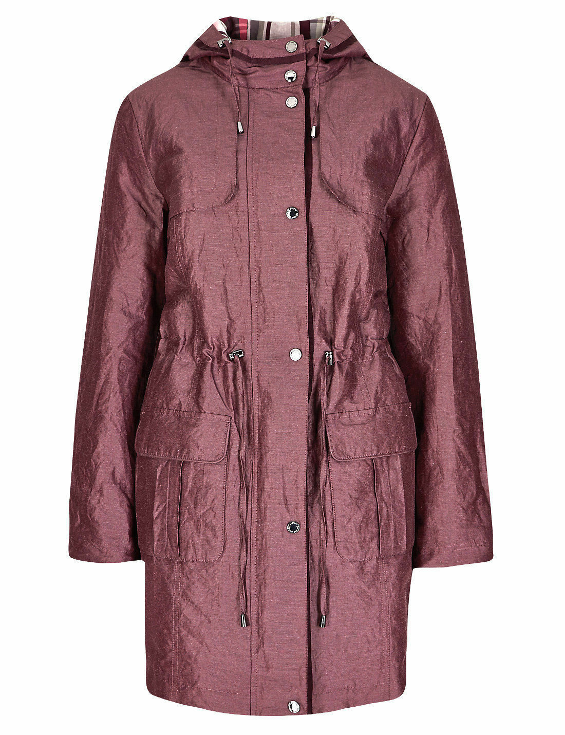 M&S Women's PER UNA Thermal Quilted Hooded Stormwear Size UK8 EUR36