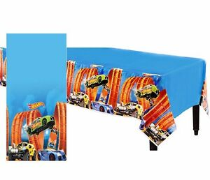 Hot-Wheels-Wild-Racer-Table-Cover-Birthday-Party-Decoration-Cars-Table-cloth