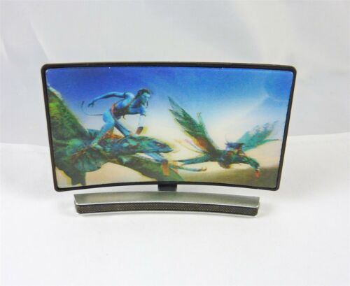Dollhouse Miniature 1:12 Scale Curved Screen 3D TV with Fantasy Scene G7526