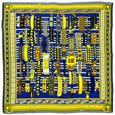 §§§ Chale shawl cachemire soie Cashmere Silk Hermès neuf  Colliers de Chiens §§§
